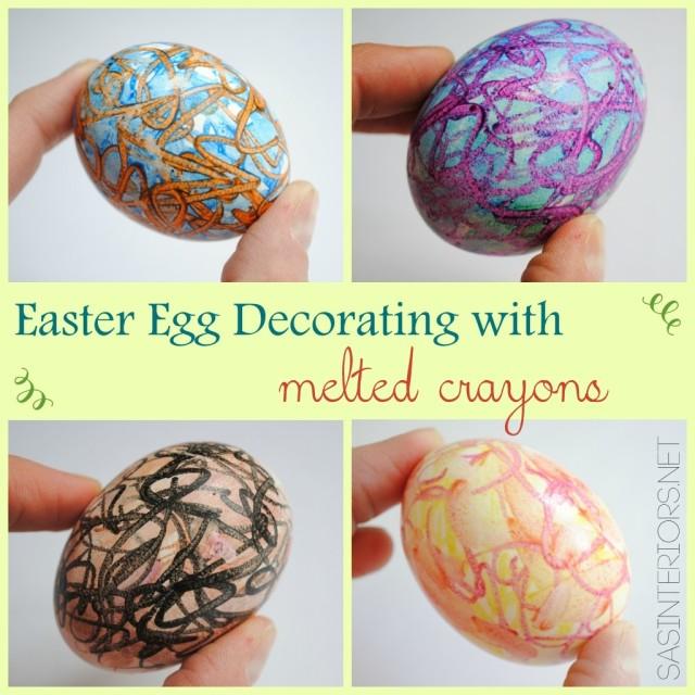 Поделки на Пасху: Красим яйца восковыми мелками