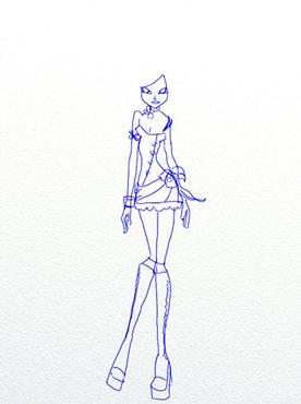 Как нарисовать Флору из Клуба Винкс