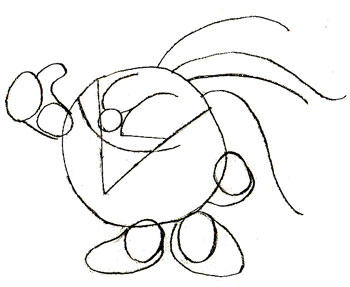 Как нарисовать смешарика Кроша