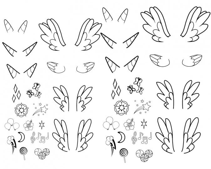 Раскраски для девочек ногти