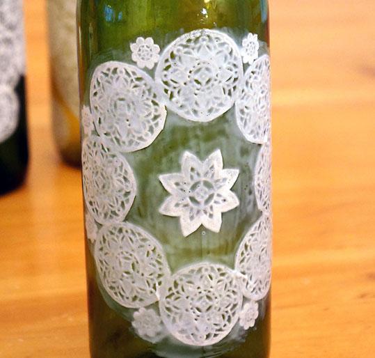 Поделки из салфетки на бутылку
