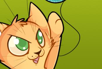 Как нарисовать игривого котенка