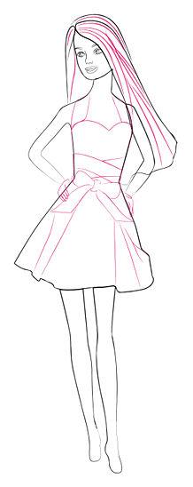 Как нарисовать Барби