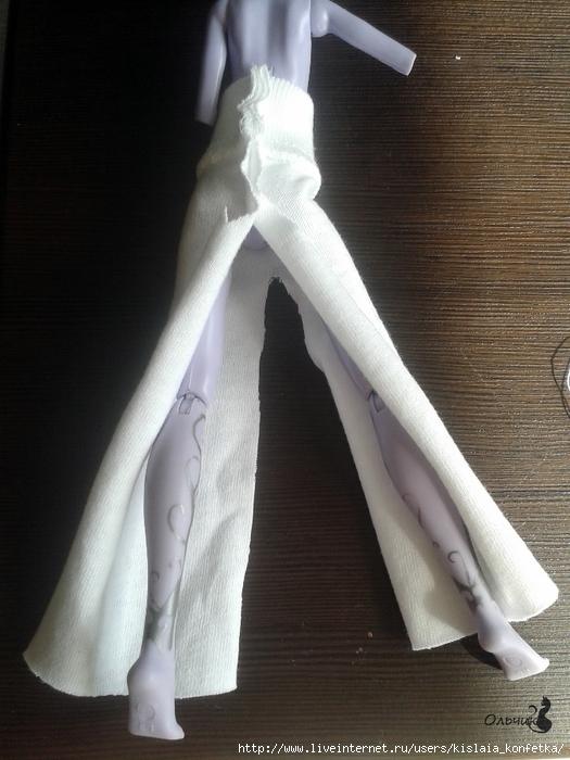 Поделки для кукол: Шьем майку и брюки с градиентом для Монстр Хай