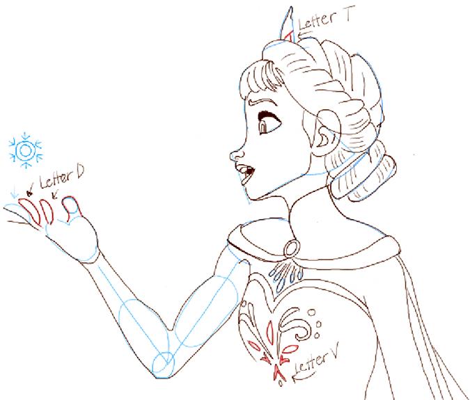 Холодное сердце как нарисовать эльзу