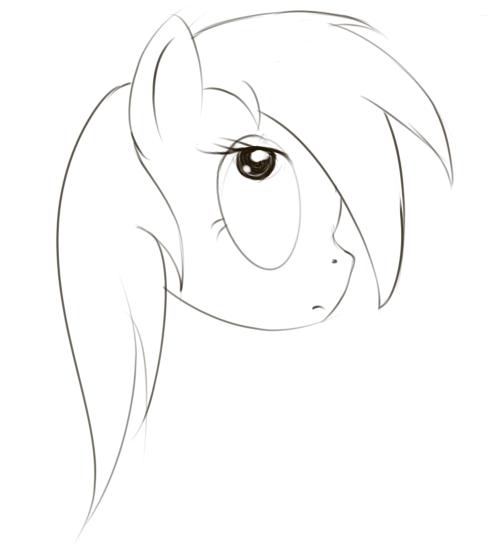 Волосы для пони без фона - b