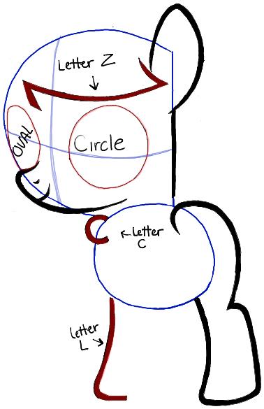 Как нарисовать маленькую пони Октавию