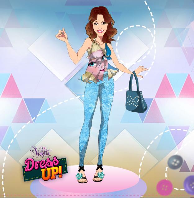 Игра для девочек: Одевалка Виолетты - YouLoveIt.ru