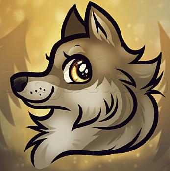 Как нарисовать мультяшную голову волка