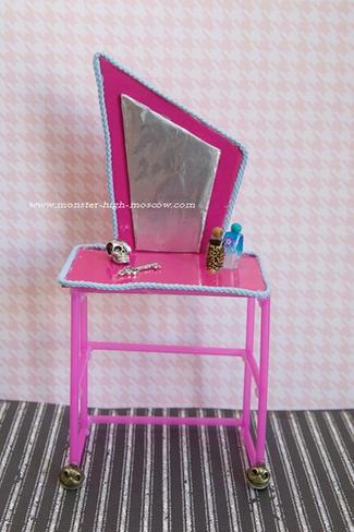 Кукольный туалетный столик своими руками 66