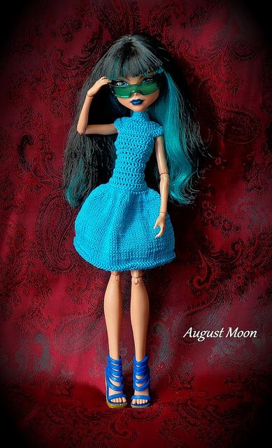 Как связать платье для куклы Монстр Хай
