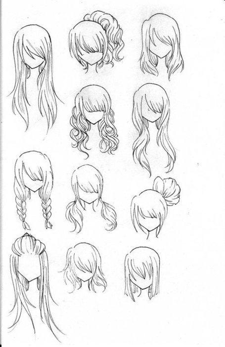 Как рисовать женские причёски