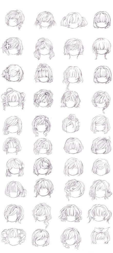 Chibi male hairstyles