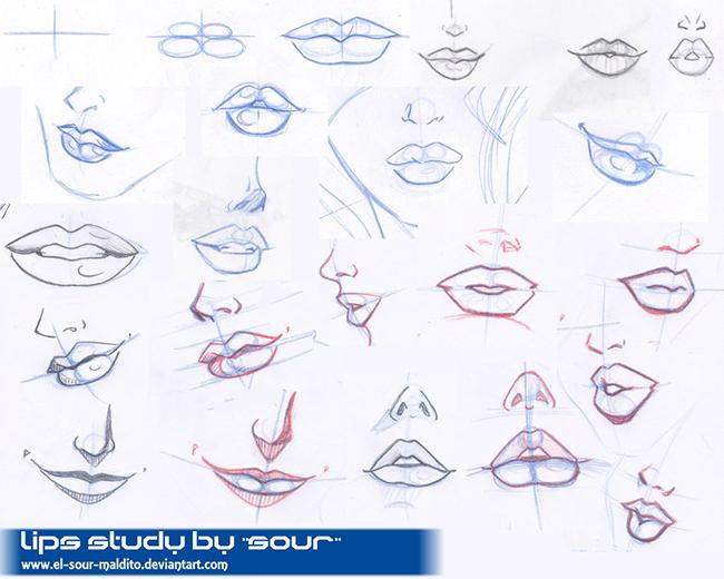 Как рисовать губы: Картинки подсказки ...: www.youloveit.ru/creative/uroki_risovaniya/7507-kak-risovat-guby...