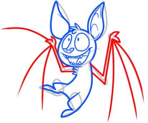 Рисуем забавную летучую мышь