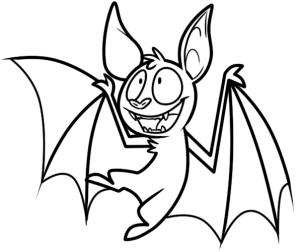 Летучая мышь на хэллоуин рисовать