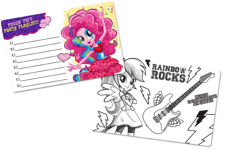 Картинки девушек из эквестрии радужный рок раскраски