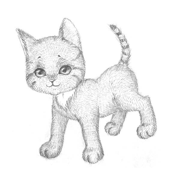 Урок рисования котенка