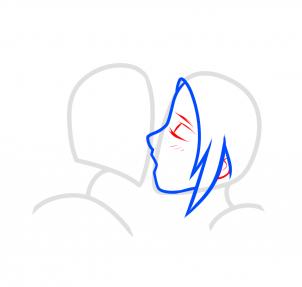 Рисуем поцелуй Сакуры и Наруто