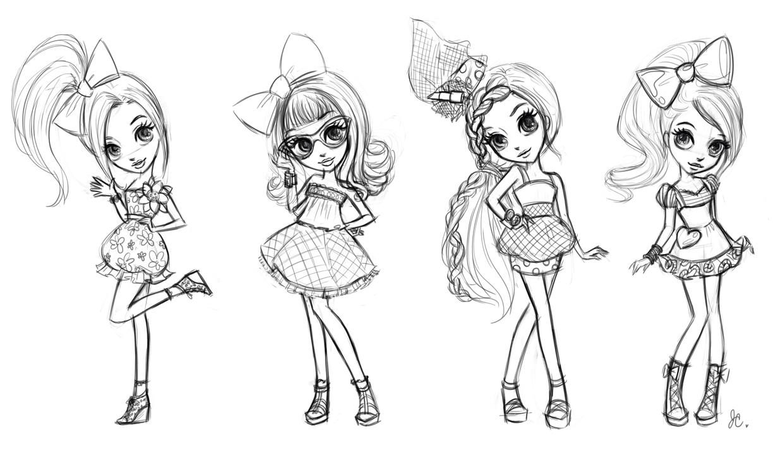 Рисунки для девочек на распечатку