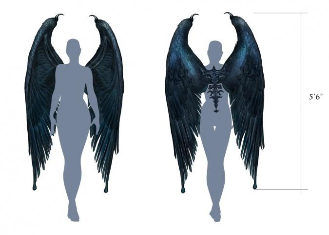 Кукла малефисента с крыльями