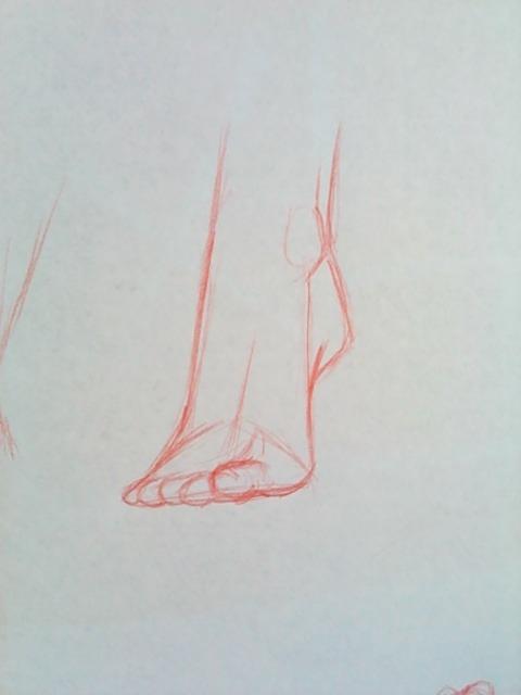Как рисовать ноги (ступни)