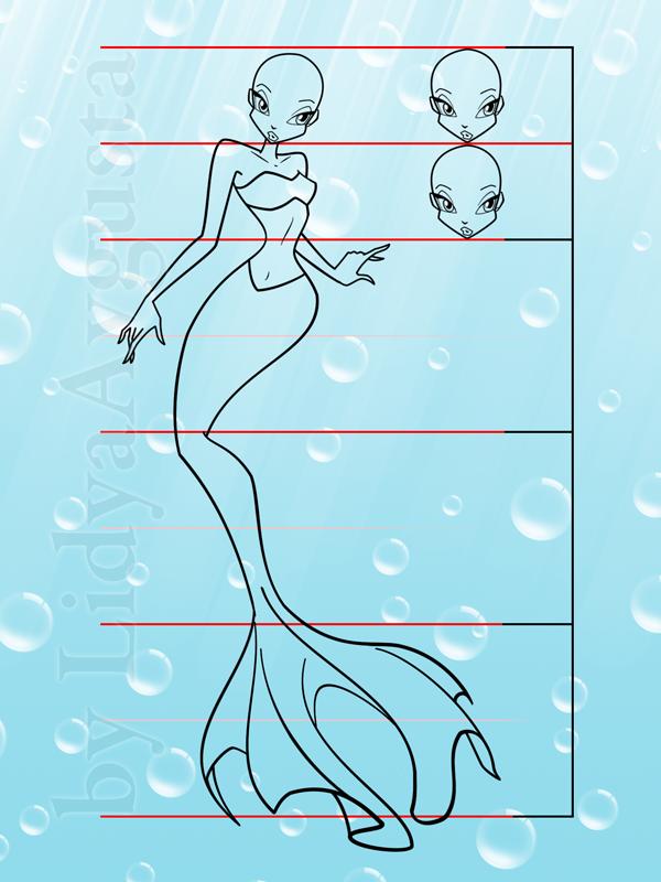 Урок рисования русалок в стиле Винкс