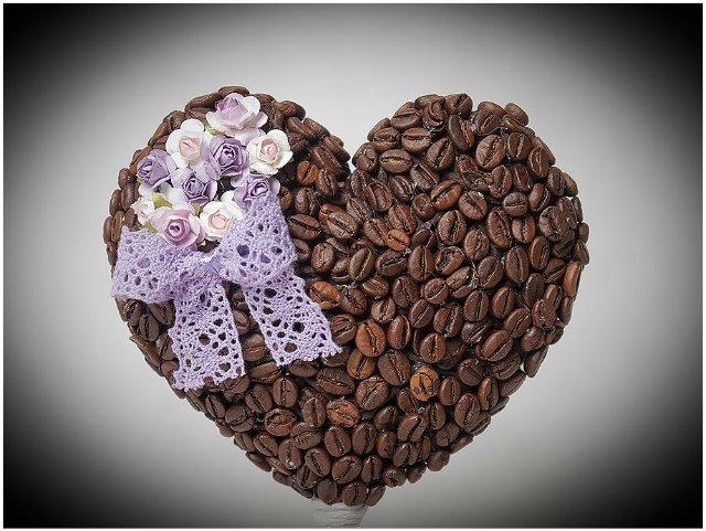 Своими руками из кофе сердце
