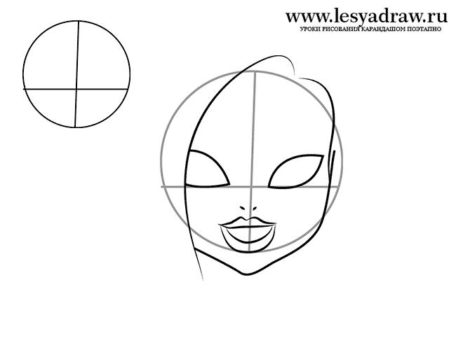 Монстр Хай: Как рисовать Кэтти Нуар