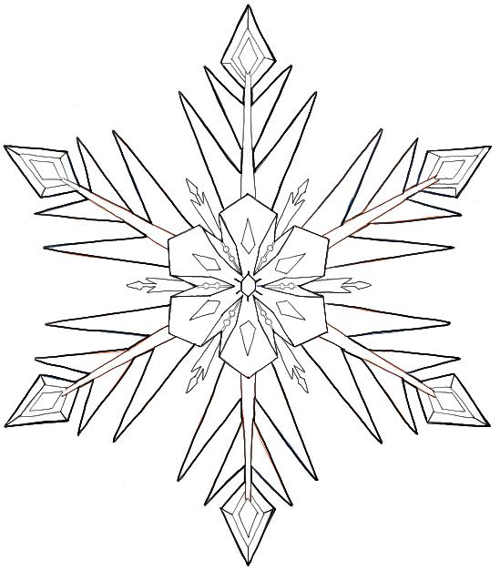 Рисуем снежинку как в мультфильме