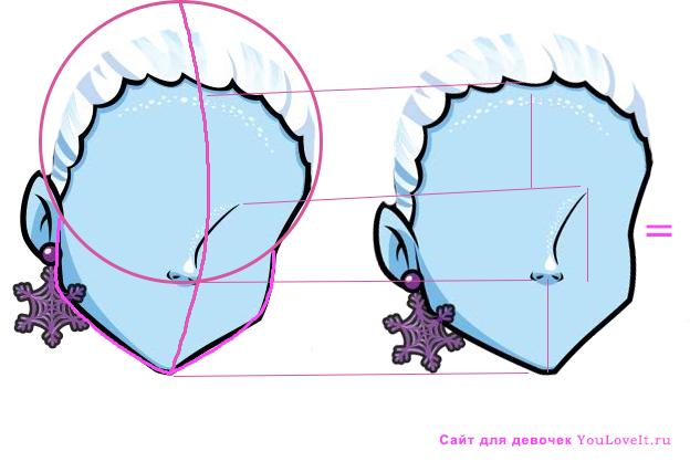 Как рисовать Монстр Хай: Картинки подсказки