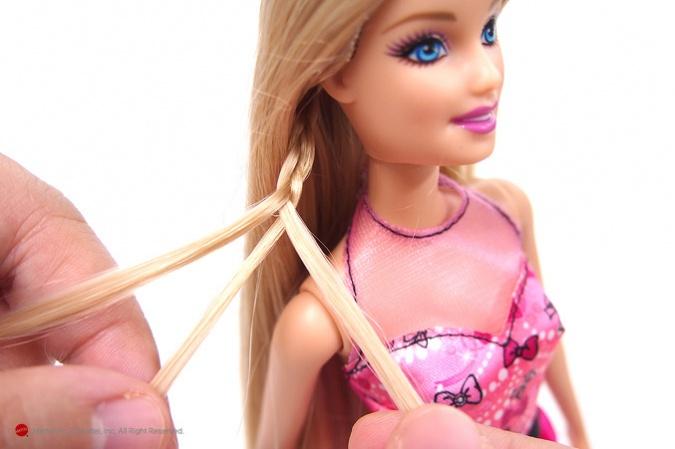 Причёски для кукол своими руками видео барби