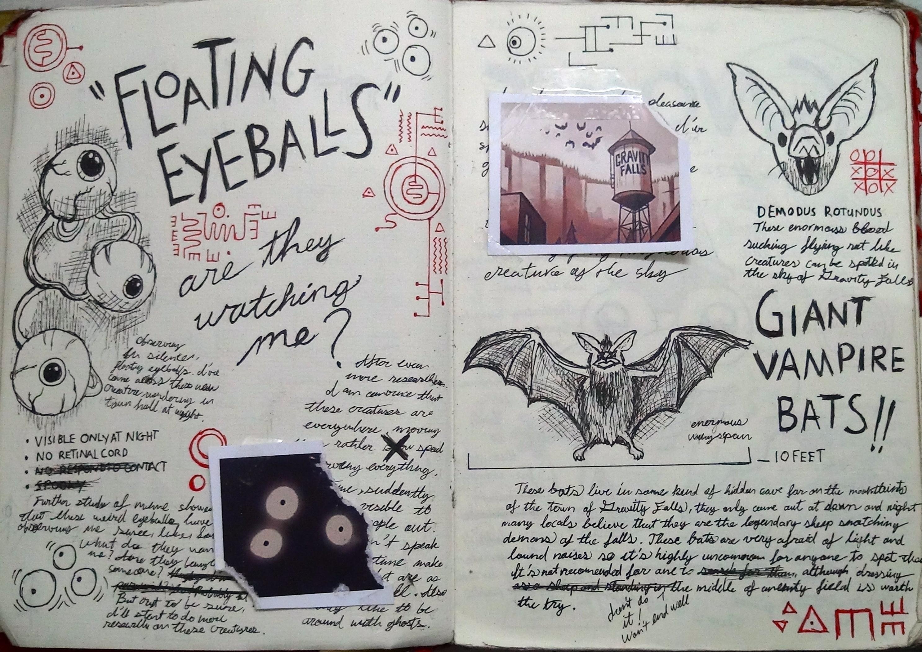 Как сделать дневник из гравити фолс все страницы
