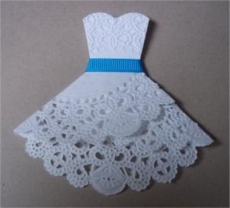 Как сделать платье из салфеток своими руками для себя