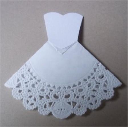 Платье из салфеток поделки
