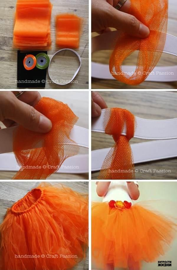 Как сделать юбку пачку из пакетов