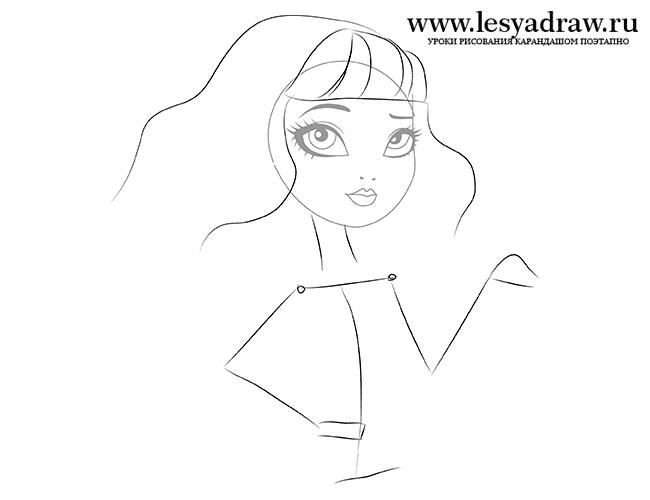 Урок рисования Блонди Локс из Эвер Афтер Хай