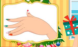 Игра для девочек: Новогодний маникюр