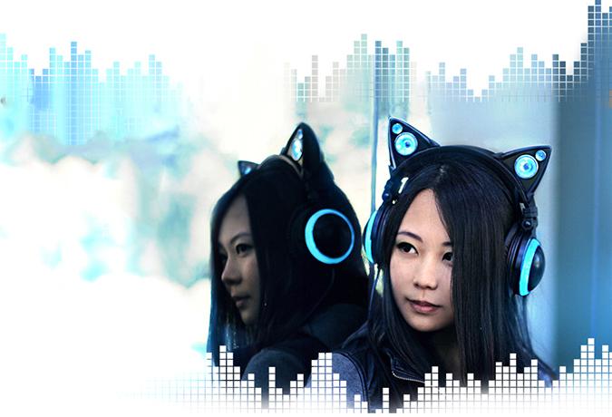 Супер наушники в форме кошачьих ушек Axent Wear