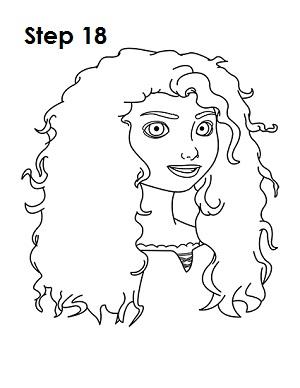 Как нарисовать Мериду (Храбрая Сердцем)