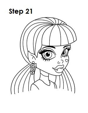 Как рисовать Монстр Хай: Рисуем Дракулауру