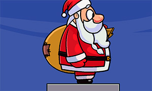 Новогодняя игра: Санта Клаус перебирается по каминам