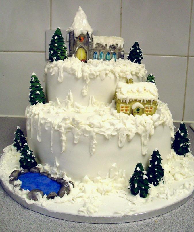 Красивых новогодних тортов с фото