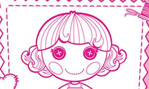 Lalaloopsy: Бумажные куклы Лалалупси с одеждой