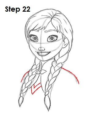 Как нарисовать Анну из Холодного Сердца