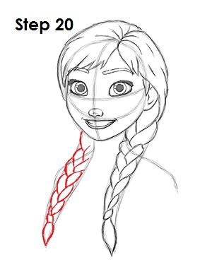 Как нарисовать Анну из Холодного Сердца - YouLoveIt.ru Холодное Сердце Рисовать