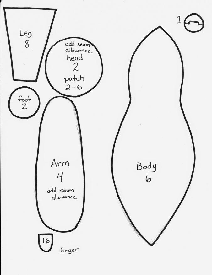 Выкройка беззубика своими руками