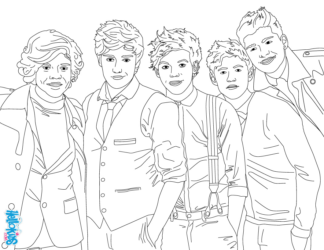 ONE DIRECTION Coloring pages  Coloring pages  HelloKids