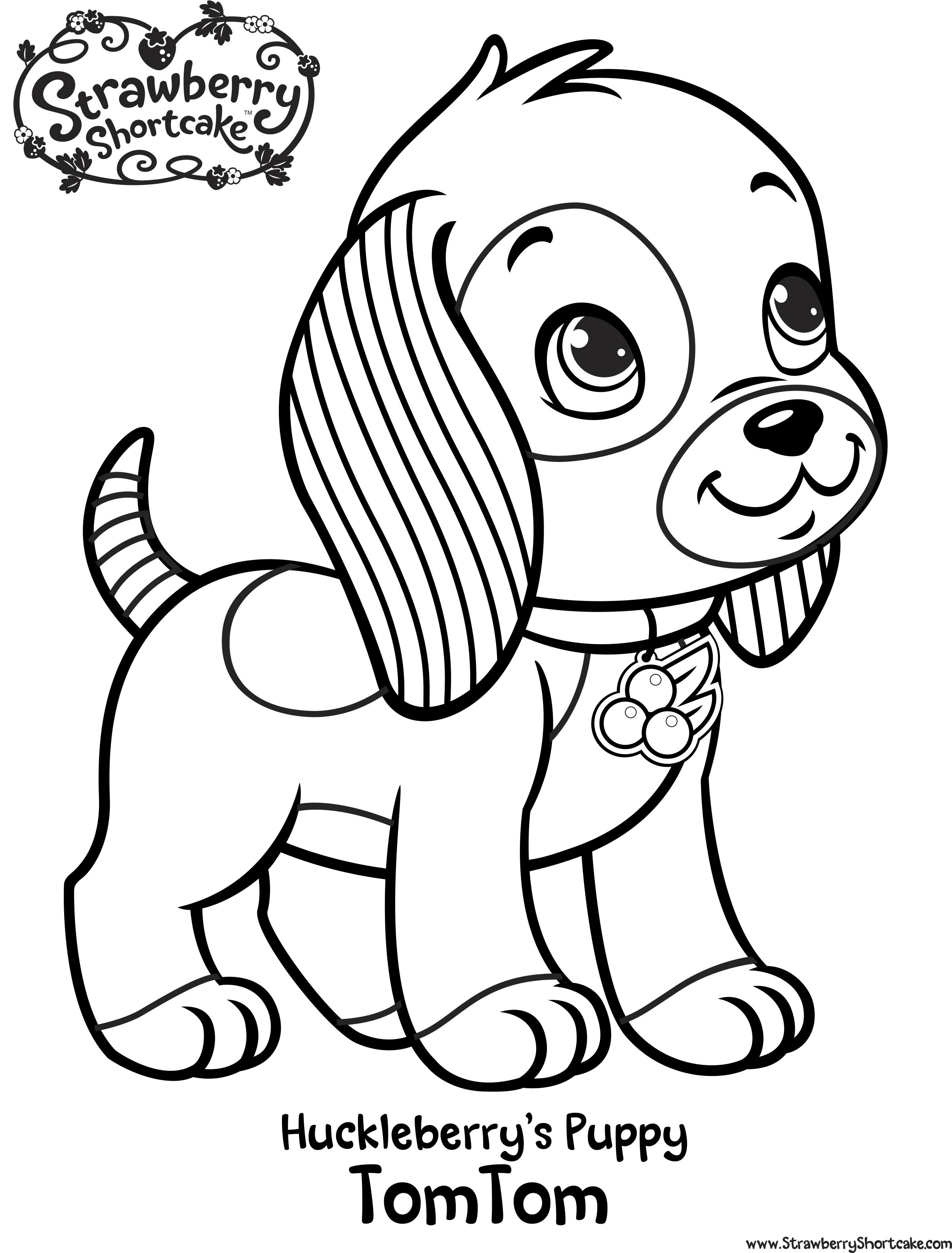 Раскраска для девочек щенки - 8