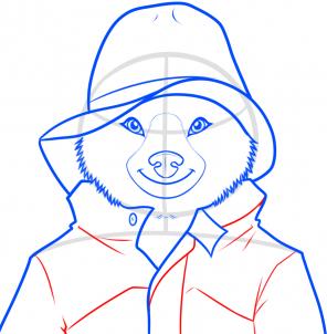 Как нарисовать медвежонка Паддингтона